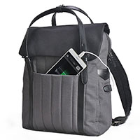 Water Resistant Elegant Urban USB Charge Port Laptop Backpack