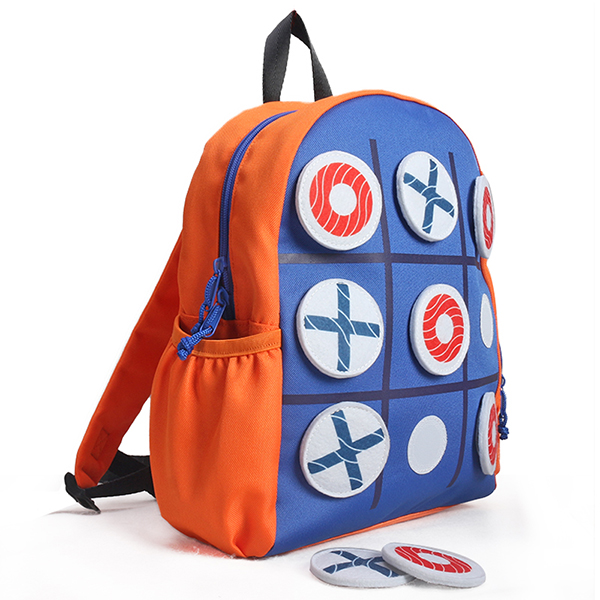 inchesTic Tac Toe inches Kids Activity School Backpack
