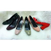 Ladies Front Toe Simple Patent Finish High Heel Shoes, B603-1