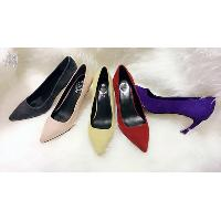 Classy Ladies Pointy Toe Lamb Suede Leather High Heel Pump