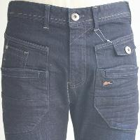 PU Coated Denim with Garment Wash
