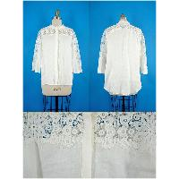 Ladies Lace Trimmed Blouse, JX 617044