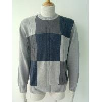 Color blocking men's pullover.