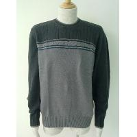 Fancy cable and stripes pullover.