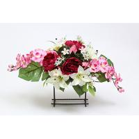 30cm Mixed Peony/Easter Lily/Rose Bud/Orchid/Foamed Astibel/Blossom Center-piece X 21