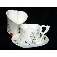 Heart Shape Coffee Set with Gift Box, GT-09196-A/B
