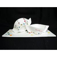 Set of 3 Snack Plate with Gift Box
