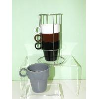 Set of 4 Stakeable mugs with Stand