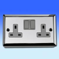 13A 2 Gang DP Switched Socket