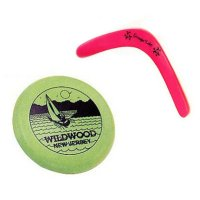 7 inches Plastic Flying Disc 16 inches Plastic Boomerang
