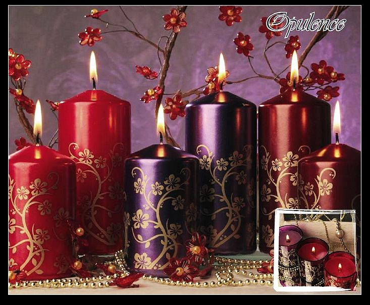 Christmas Pressed Paraffin Pillar Candles