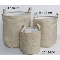 Canvas Baskets for Laundry, ET-CB0612