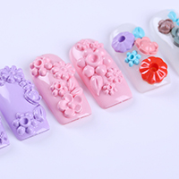 1pc Nail Mold 3D Carved Silicon