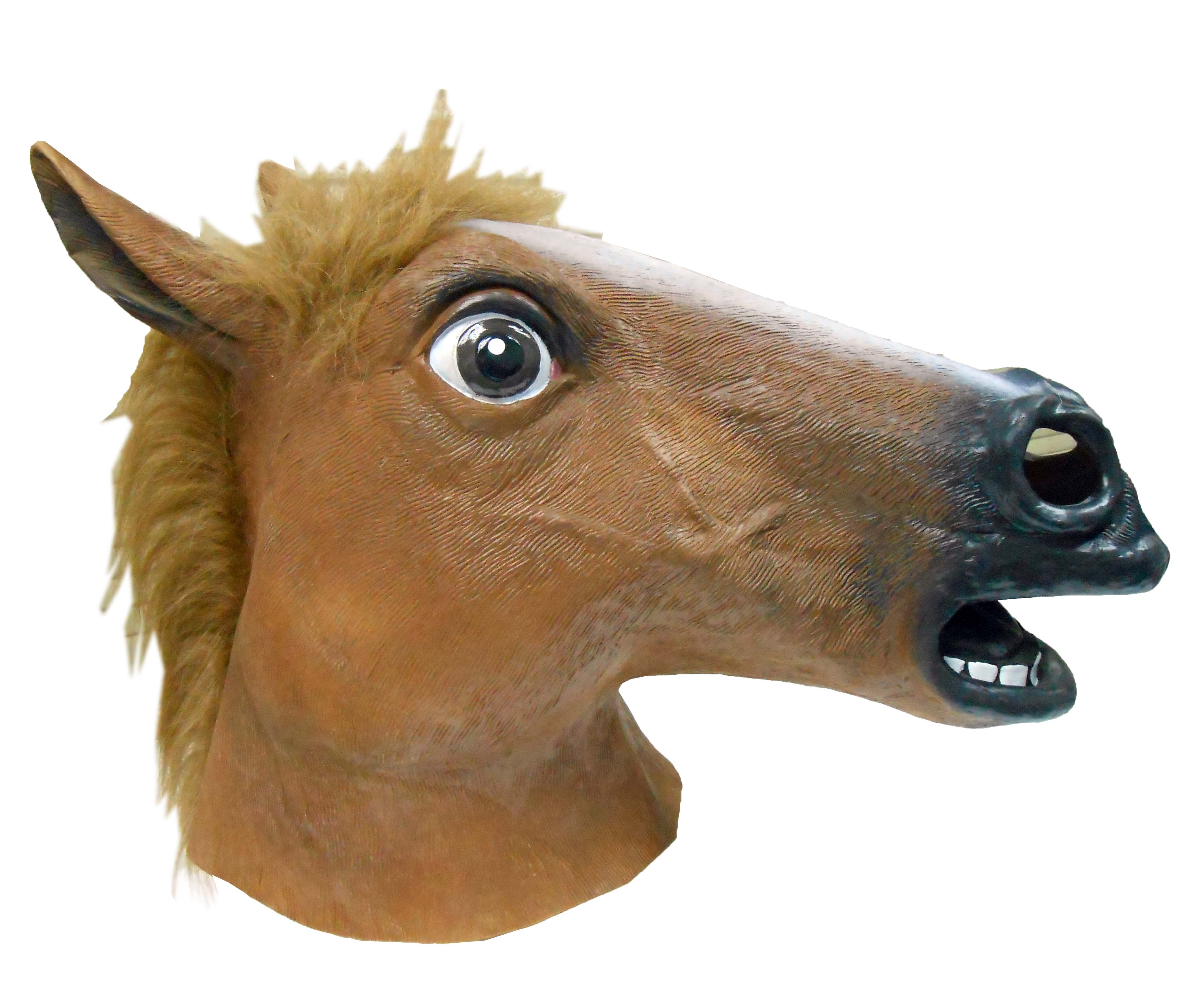 Animal latex Mask ~ Brown Horse