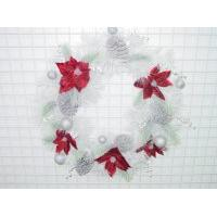 POINSETTIA/CONE BERRY WREATH, A20/PVFAW2599-24