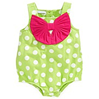 Baby Knitted Girl Romper/Sunsuit