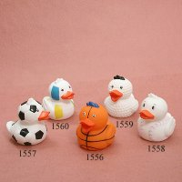 1556 - Basketball Duck 1557 - Soccer Duck 1558 - Baseball Duck 1559 - Golf Duck 1560 - Vollyball Duck