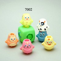 7 Pcs. Animal Stackers, 7002