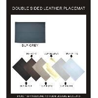 DOUBLE SIDED LEATHER PLACEMAT