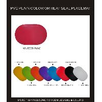 PVC PLAIN COLOR HEAT SEAL PLACEMAT