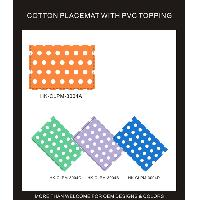 COTTON PLACEMAT WITH PVC TOPPING