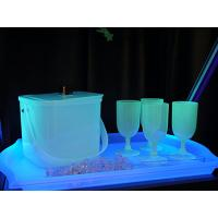 Glow in the Dark Ice Bucket and Burgundy Glass