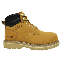 Men's 6 Inch Leather Work Boot with Steel Toe Cap, Penetration Resistant Midsole and Electric Hazard Functions