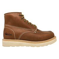Men's 6 Inch Lace-up Leather Boot with Moc Toe