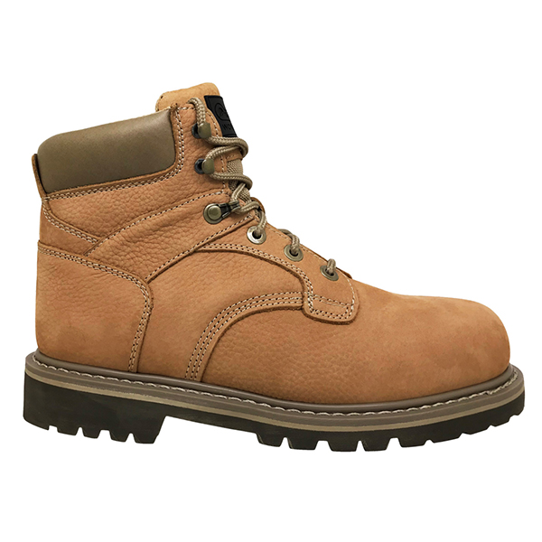 Men's 6 Inch Leather Work Boot with Steel Toe Cap, and Electric Hazard Functions
