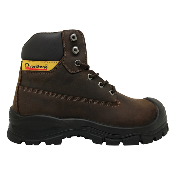 Men's 6 Inch Leather Work Boot with Steel Toe Cap, Penetration Resistant Midsole and Anti-static Functions