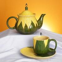 Maize teapot & cup / saucer set