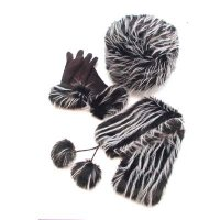 Glove: Polyester Scarf/Hat: Main- Acrylic / Lining- Polyester