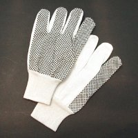 Cotton Drill PVC Dots Glove