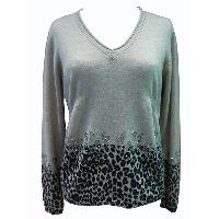 Pullover with Printing & Strasses