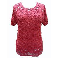 Pullover with 95% Viscose 5% Elastane Knitted Top