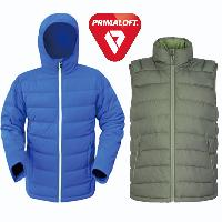 Nylon/Polyester Down or Primaloft Jacket and Vest