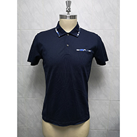 Men's 100% Mercerized Cotton Knitted Polo Shirt