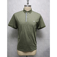 Men's 60% Cotton 40% Polyester Knitted Polo Shirt