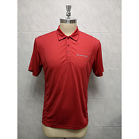 Men's 100% Polyester Knitted Polo Shirt