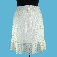 LADIES' 100% RAYON WOVEN BATTENBURG LACE SKIRT, OSS2002