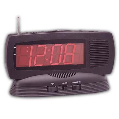 Jumbo LED Display Clock Radio