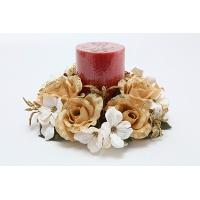 3 inches WILD ROSES CANDLE RING