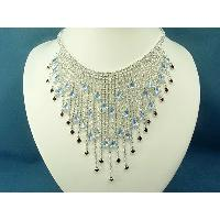 LIGHT SAPPHIRE CRYSTAL NECKLACE