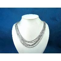 CRYSTAL AND MUTI-CHAIN NECKLACE