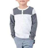 Boys Crew Neck Long Sleeves Stripes Basic Pullover Cotton Wear