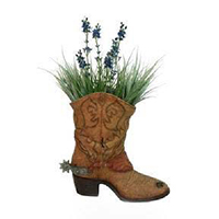 Polyresin Boot Planter