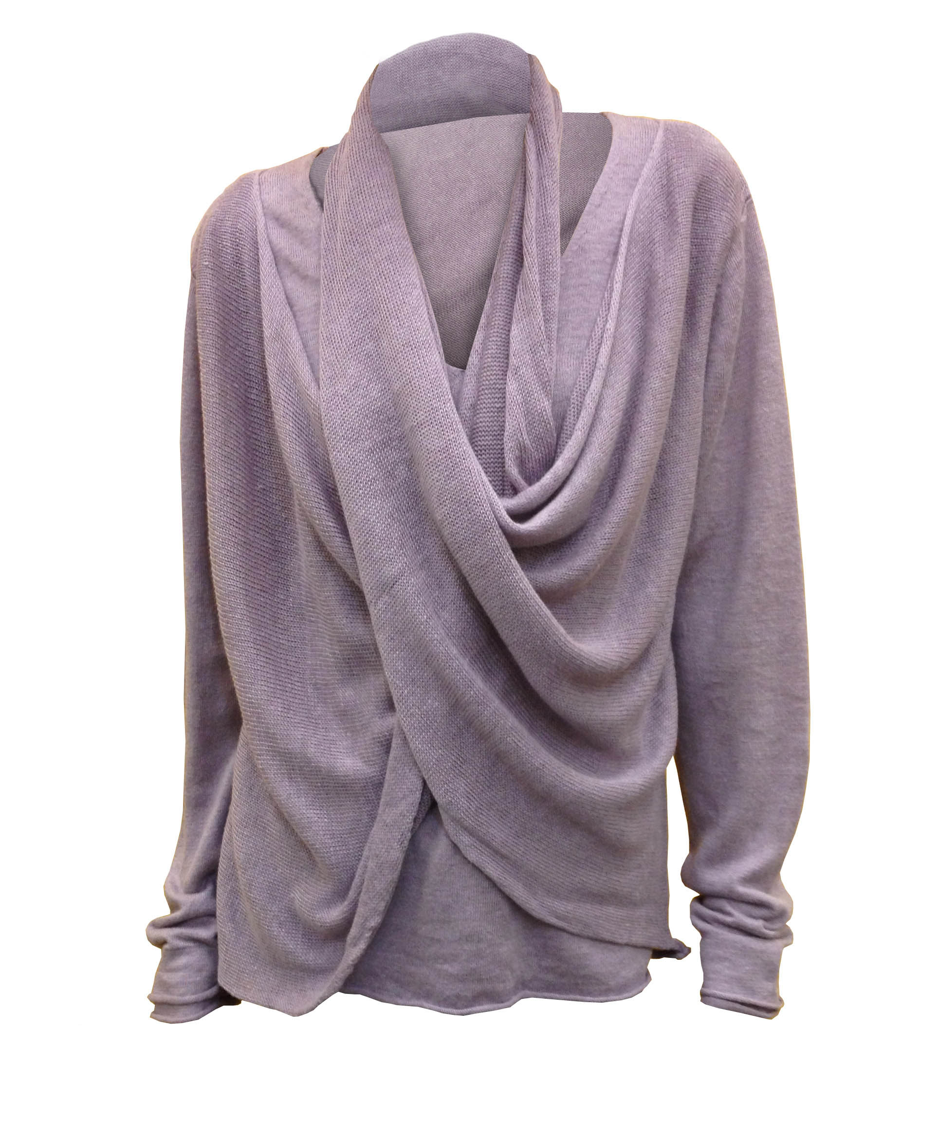 Long sleeve Scarf Pullover