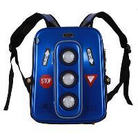 Blue Hard Case Traffic Light Middle Size Backpack