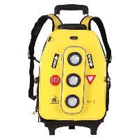 Yellow Hard Case Traffic Light Big Size Trolley Schoolbag