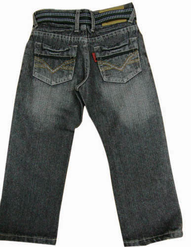 Boy's Fancy Jeans with Belt
